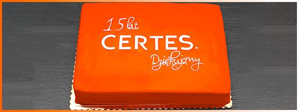 Tort z okazji 15-lecia firmy Certes