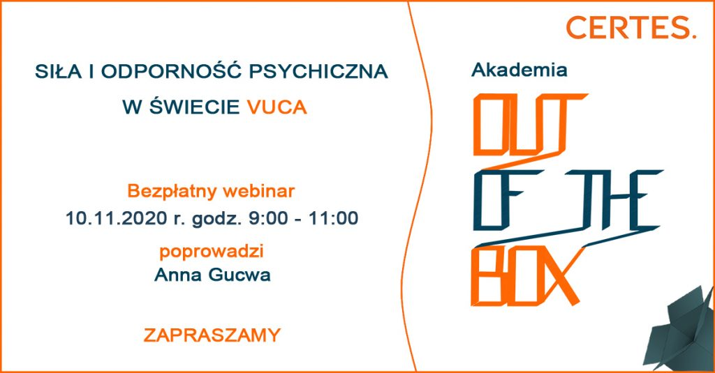 Out of the Box - webinar Anna Gucwa